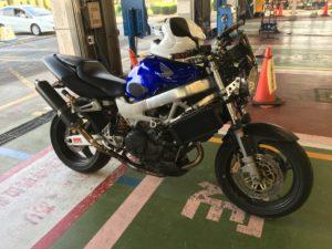VTR1000Fバイク継続車検