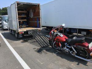 車検切れバイクの輸送