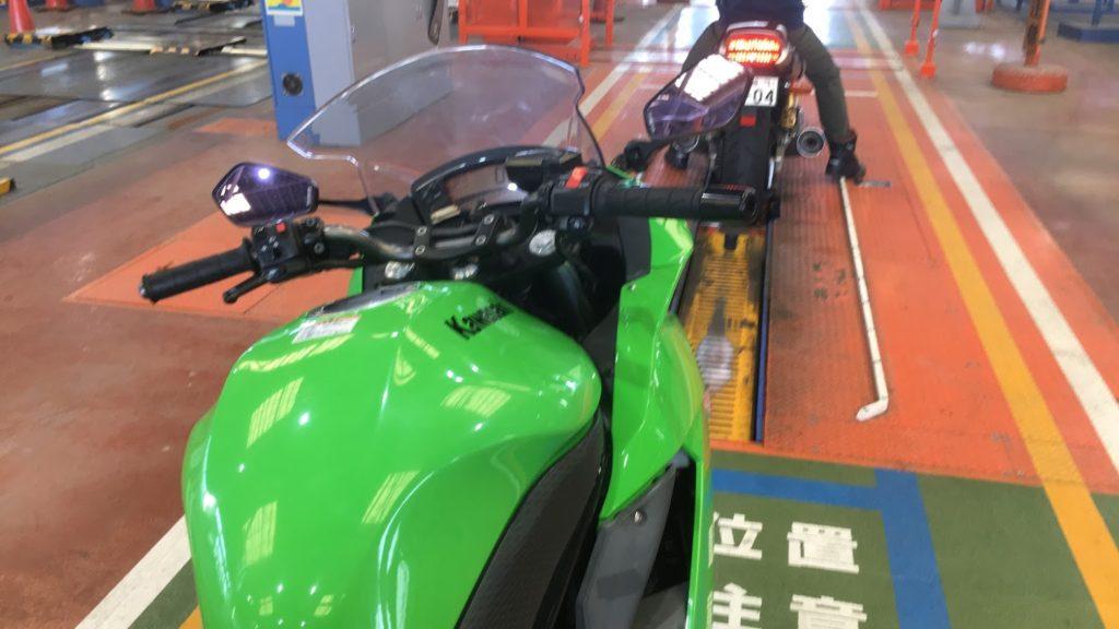 ニンジャ400Rのバイク車検