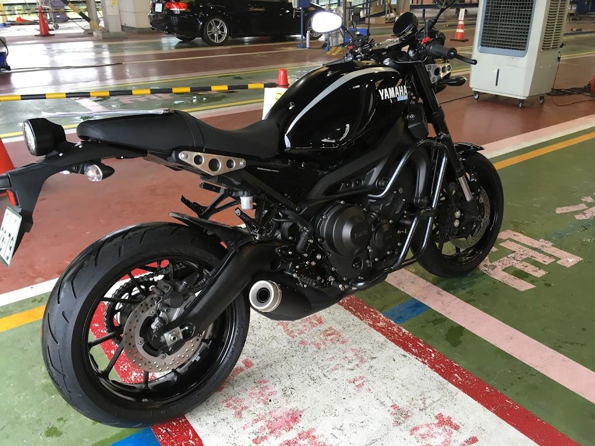 XSR900のバイクユーザー車検